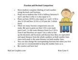 Fraction and Decimal Comparison Chart