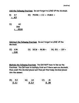 Fraction and Decimal Conversion