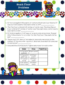 Fraction and Decimal Elf Project