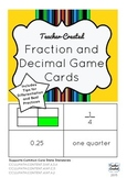 Fraction and Decimal Game Cards