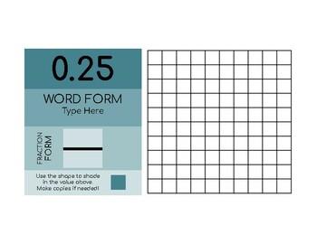 Fraction and Decimal Grids - Interactive Slides