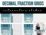 Fraction and Decimal Grids - Editable, Interactive Slides