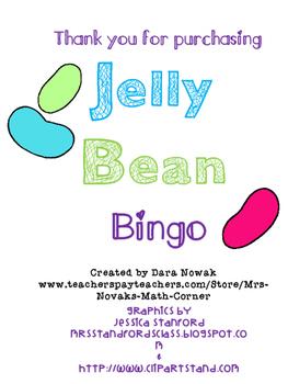 Fraction and Decimal Jelly Bean Bingo