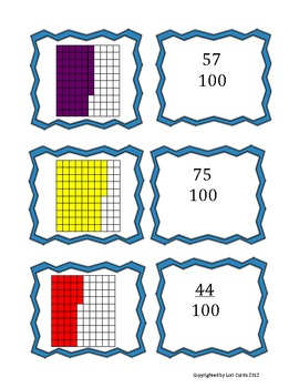 Fraction and Decimal Match Up to the Hundredths