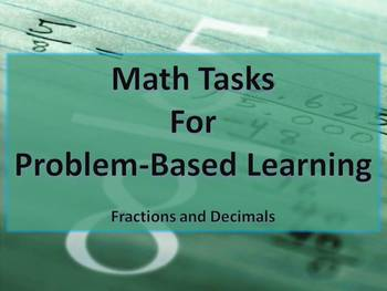 Fraction and Decimal Math Tasks Common Core 5th-6th grade