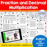 Fraction and Decimal Multiplication   Mini BUNDLE