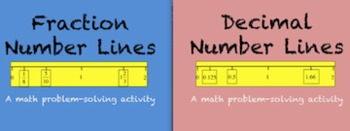 Fraction and Decimal Number Line Bundle (Problem-solving)