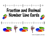Fraction and Decimal Number Line Cooperative Learning Cards