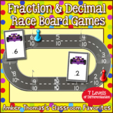 Fraction Number Line Game:  Long Jump
