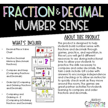 Fraction and Decimal Number Sense: Comparing and Ordering