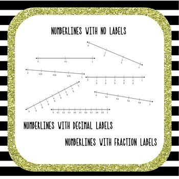 Fraction and Decimal Numberlines Clipart