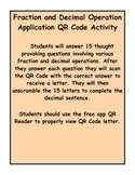 Add, Subtract, Multiply, & Divide Fractions & Decimals QR Code Activity