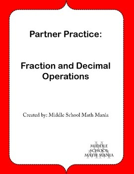 Fraction and Decimal Operations
