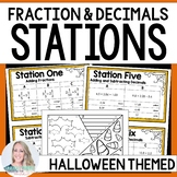Fraction and Decimal Operations : Editable Math Stations