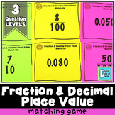 Fraction and Decimal Place Value Matching Game