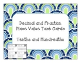 Fraction and Decimal Place Value Task Cards with QR Codes