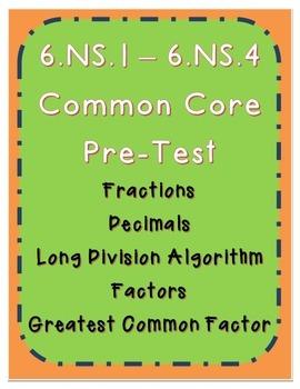 Fraction and Decimal Pre-Test