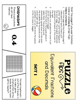 Fraction and Decimal Puzzle Flips
