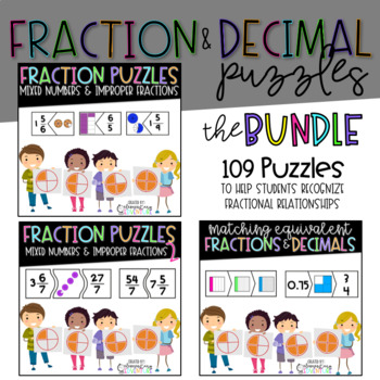 Fraction and Decimal Puzzles: The Bundle