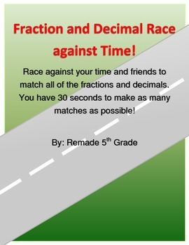 Fraction and Decimal Race Against Time!