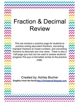Fraction and Decimal Review