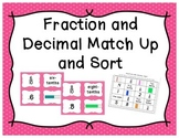 Fraction and Decimal Match Up and Sort