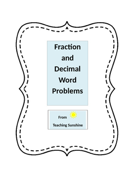 Fraction and Decimal Story Problems