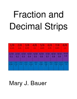 Fraction and Decimal Strips