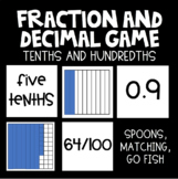 Fraction and Decimal (Tenths and Hundredths) Game