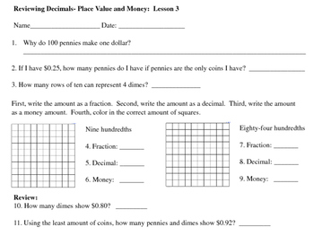 Fraction and Decimal Unit