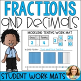 Fractions and Decimals Math Work Mats with Visual Models a