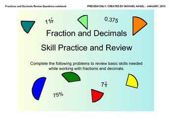 Fraction and Decimals Review