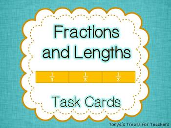 Fraction and Length task cards and posters