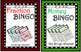 Fraction and Money Bingo!!! 2 sets of 36x sheets!