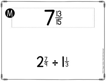 Fraction and Mixed Number Operations Scavenger Hunt