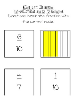 Fraction and Model Matching Game