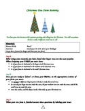 Fraction and Patterns Christmas Tree Farming