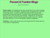 Fraction and Percent Bingo for the Smartboard