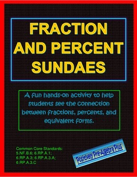 Fraction and Percent Sundae Activity