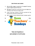 Fraction (and percentages and ratio) word problem worksheets (4 levels)