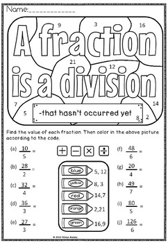 Fraction as a division (FREE )