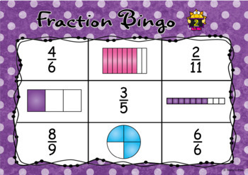 Fraction bingo game class set 2