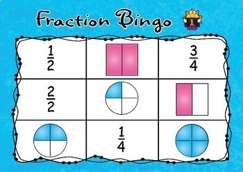 Fraction bingo FREE sample