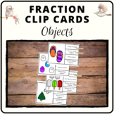 Fraction task cards objects