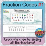 Fraction codes 1 (28 BOOM CARDS digital distance learning