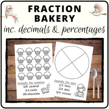 Fraction decimal percentage bakery activity #supportaussiefarmers