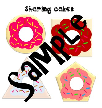 Fraction doughnut shapes