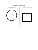 Fraction exit ticket