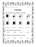 Fraction freebie for second grade