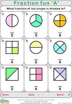 Fraction fun (14 Numeracy sheets)
